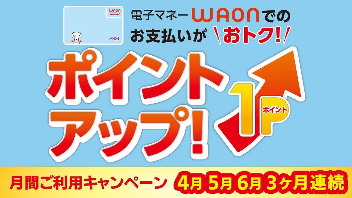 電子マネーWAON限定ポイント 4/1(月)~6/30(日)