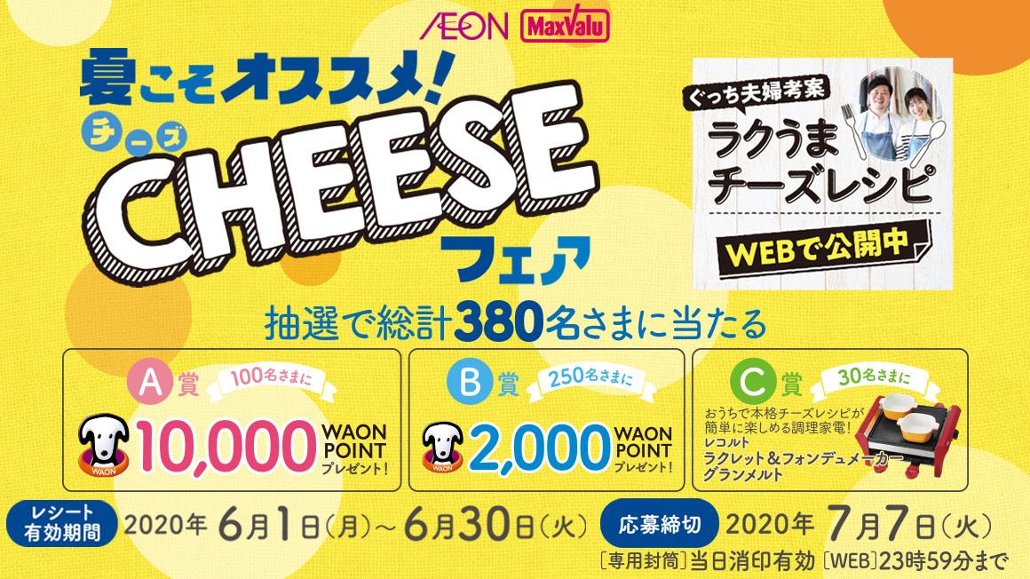 夏こそおすすめ!チーズフェアキャンペーン開催中!