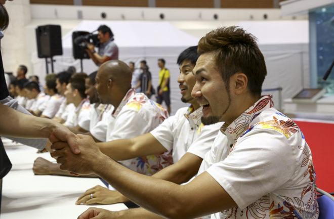 喜多川選手と握手