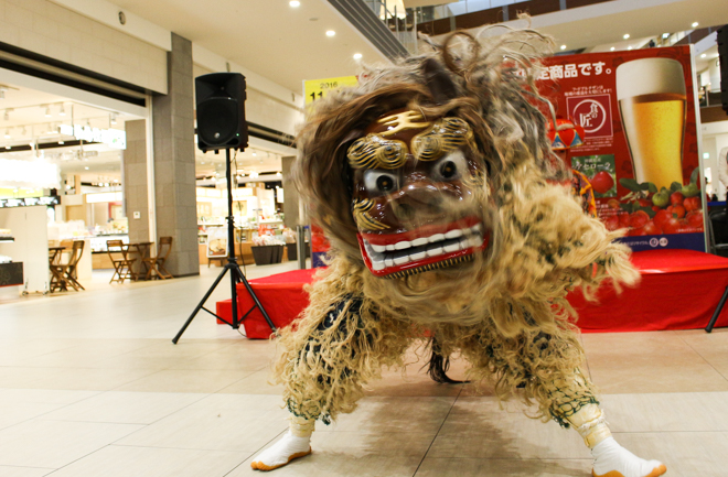 迫力の獅子舞