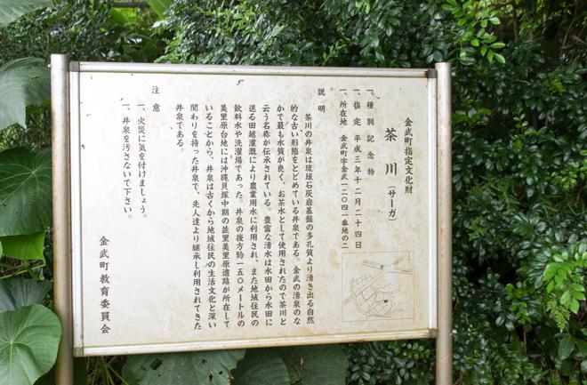 茶川の看板