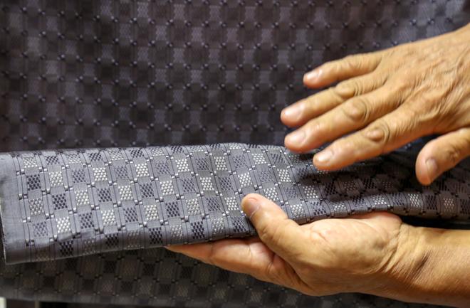 織物のアップ