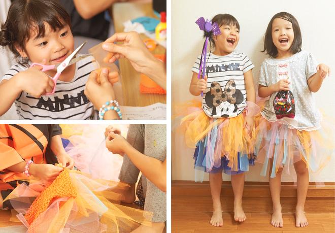 衣装づくりを楽しむ子どもたち