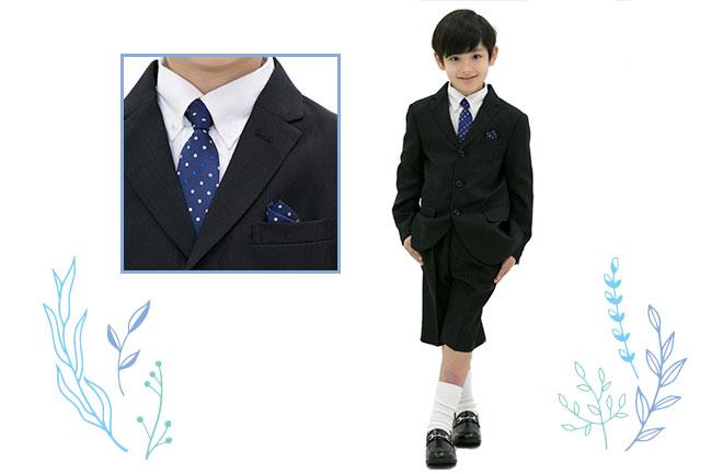 フォーマルな服を着た男の子