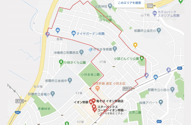 3キロコースの地図