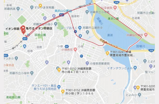 8キロコースの地図