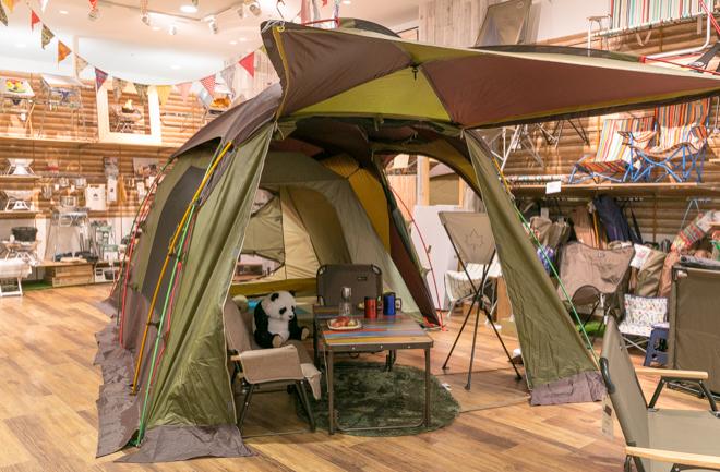 緑色のテント