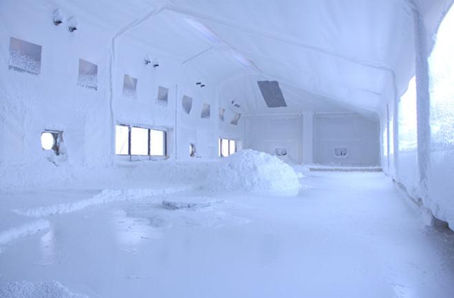 降り積もった雪の様な塩