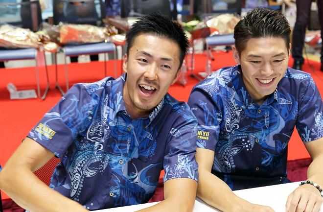 寒竹隼人選手と田代直希選手