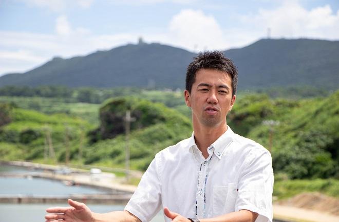 久米島総合開発の深澤弘晶さん