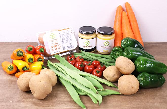 たくさんの野菜と卵とマヨネーズ