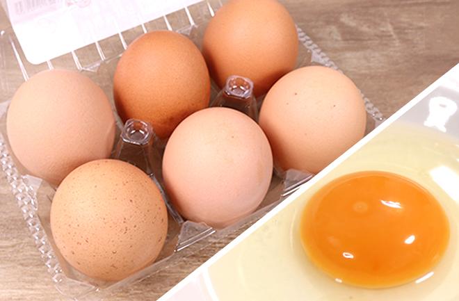 平飼い卵と黄身