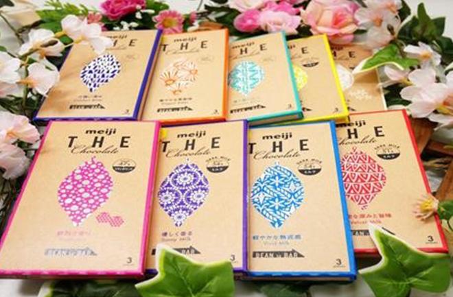 8種のチョコレート