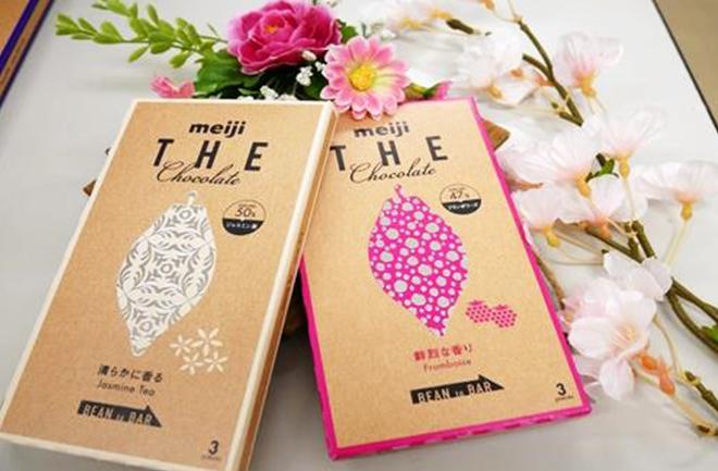 白とピンクのチョコレートパッケージ
