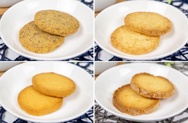 4種類のクッキーコラージュ
