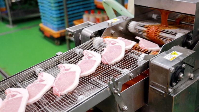 豚肉の加工